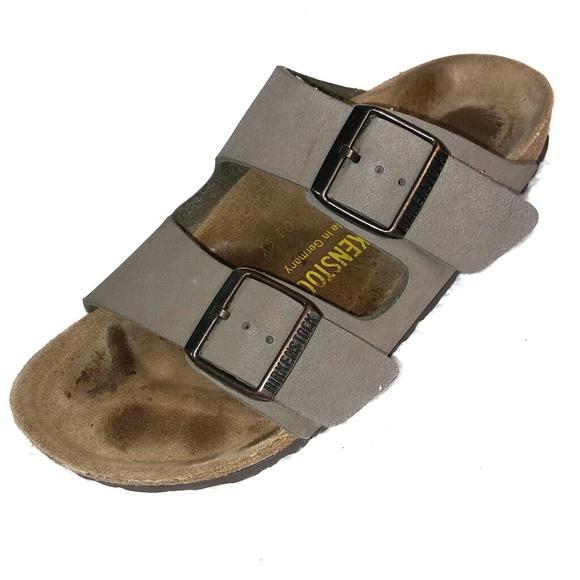 bf21fb32c Birkenstock Shoes - Birkenstock Stone Grey Arizona Style Sandals 37